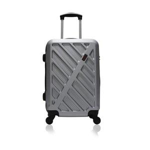 Sivý cestovný kufor na kolieskach Hero Lock, 36l