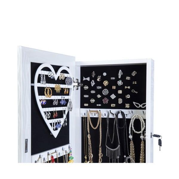 Uzamykateľné stojacie zrkadlo so šperkovnicou Fiona, šampanské
