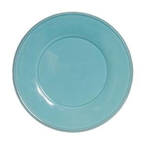 Modrý keramický tanier Côté Table, ⌀ 25,5 cm
