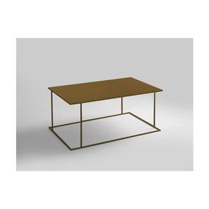 Konferenčný stolík v zlatej farbe Custom Form Walt, dĺžka 100 cm