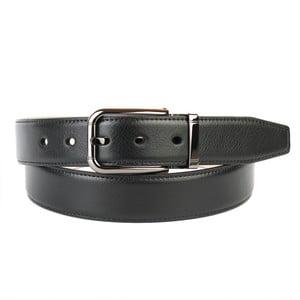 Pánsky kožený opasok 3PT10 Black, 90 cm
