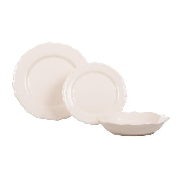 Sada 18 ks keramických tanierov Bologne White