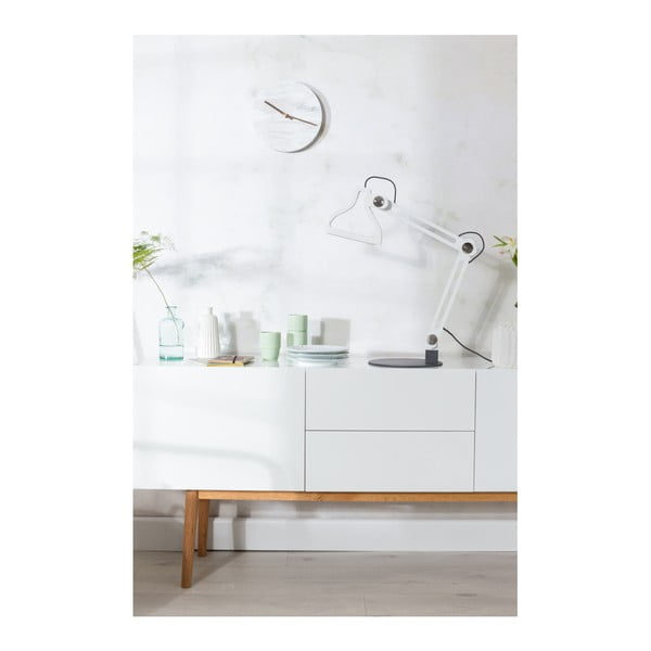Biele nástenné mramorové hodiny Zuiver Marble Time