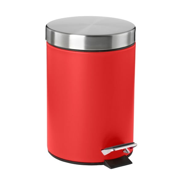 Odpadkový koš s pedálom, červený