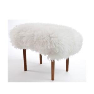 Stolička z ovčej kože Ceri Ivory