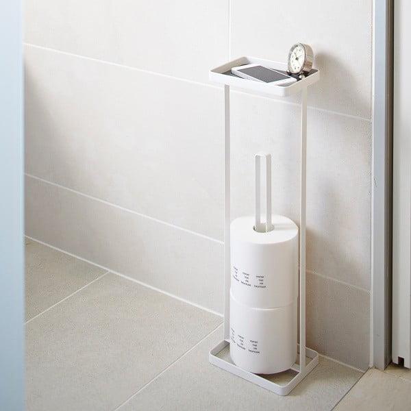 Biely zásobník na toaletný papier spoličkou Yamazaki Tower