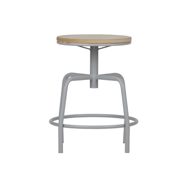Sivá kovová stolička WOOOD