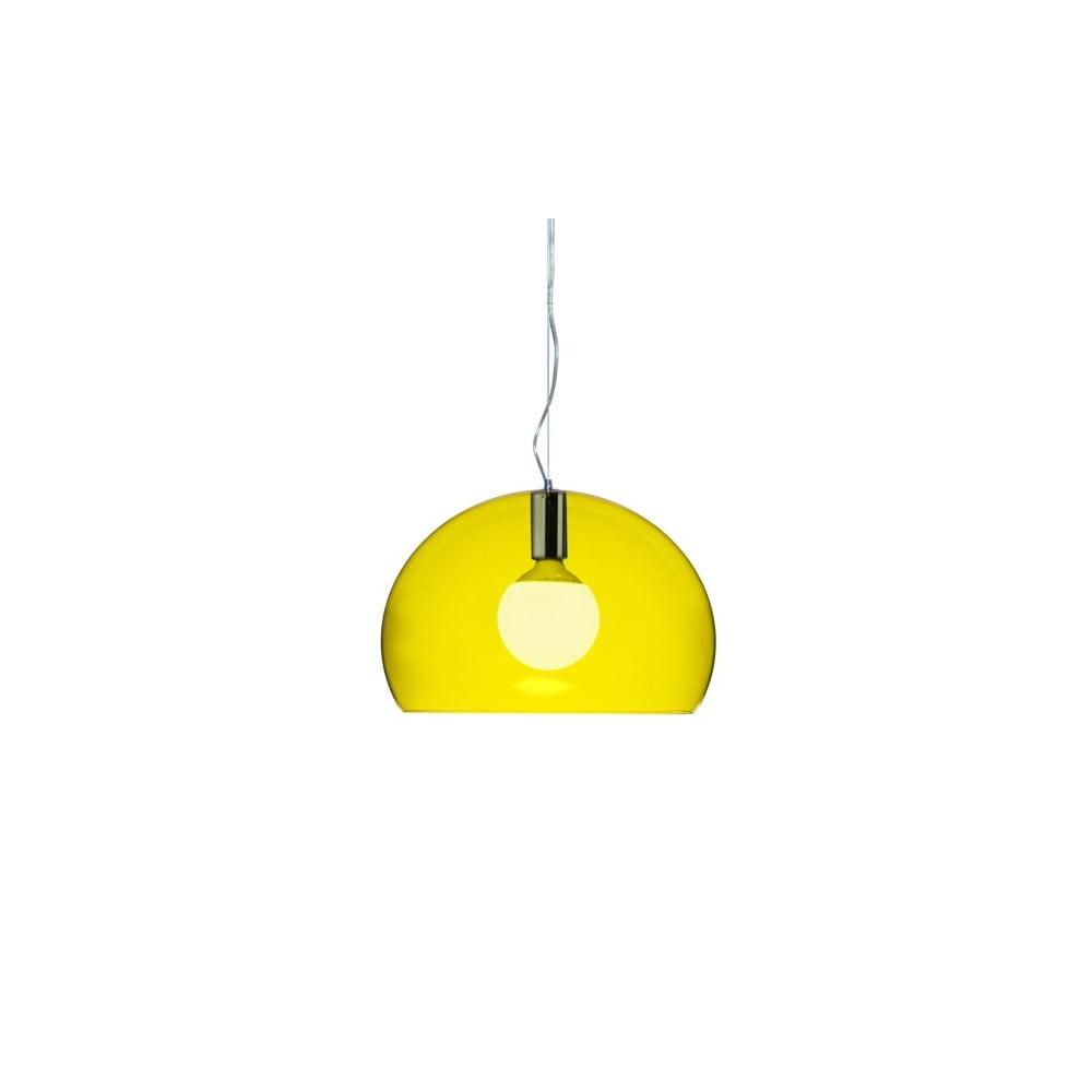 Menšie žlté stropné svietidlo Kartell Fly