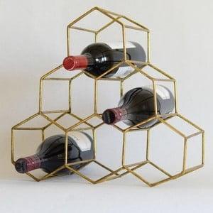 Stojan na fľaše v zlatej farbe Masivworks Polygono Bee Pyramid