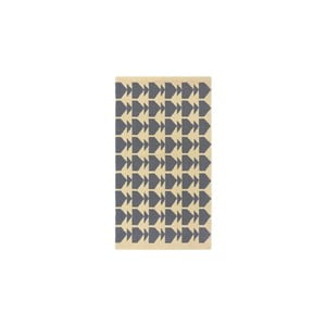 Vlnený koberec Oslo no.1, 140x200 cm, sivý