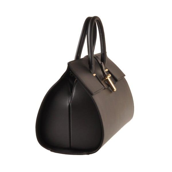 Kožená kabelka Emilio Masi Dabo, čierna