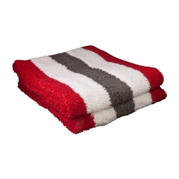 Uterák New York Strips Red/White/Antracite, 50x100 cm