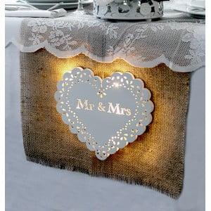 Svadobná dekorácia s LED svetielkami Endless Love