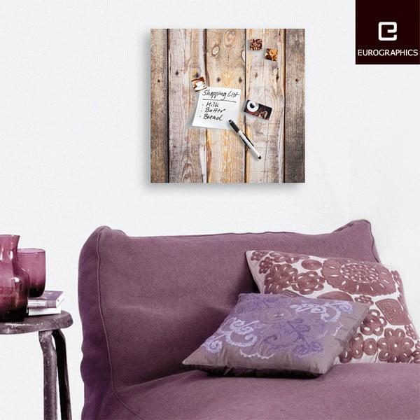 Magnetická tabuľa Eurographics Timber, 50 x 50 cm
