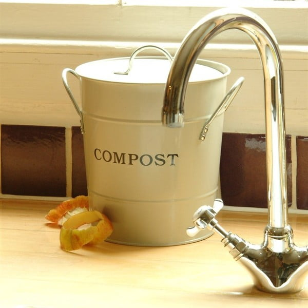 Kompostér Bucket White, 3.5 l