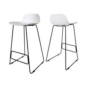 Biela barová stolička Canett Paris