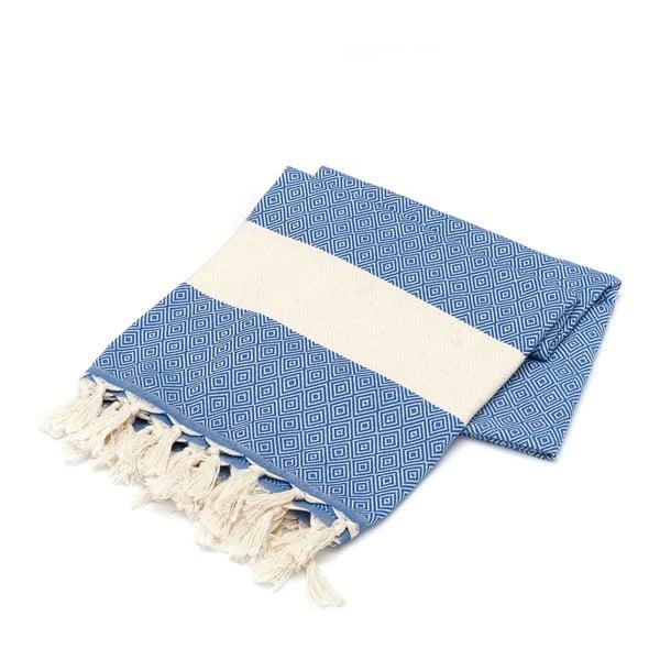 Hammam osuška American Stripes Blue & White, 100 x 180 cm