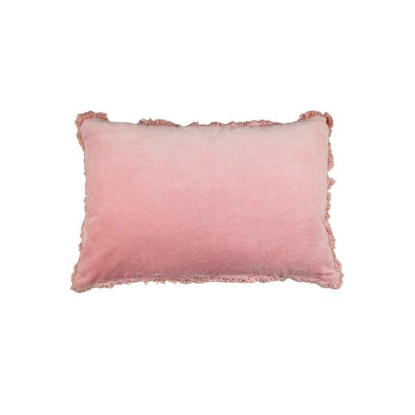 Ružový bavlnený vankúš HSM collection Colorful Living Rosa Carro, 60×40 cm