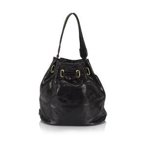 Čierna kožená kabelka Lisa Minardi Prisha