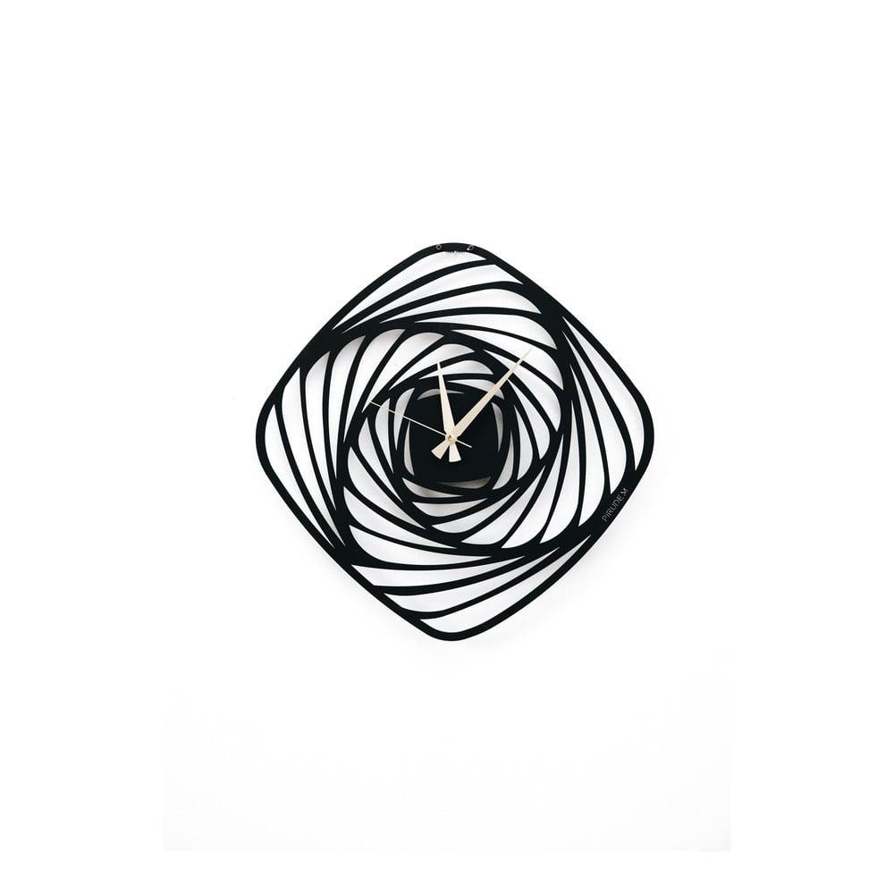 Čierne kovové nástenné hodiny Girdap, ⌀ 50 cm
