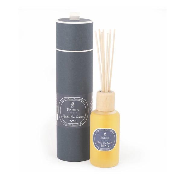 Vonný difuzér s vôňou agarového dreva, jantárovej ruže Amber a pačuli Parks Candles London  Exclusive, 250 ml