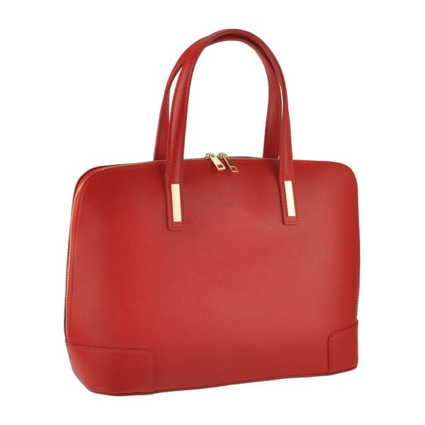 RenaKožená kabelka Rena, červená