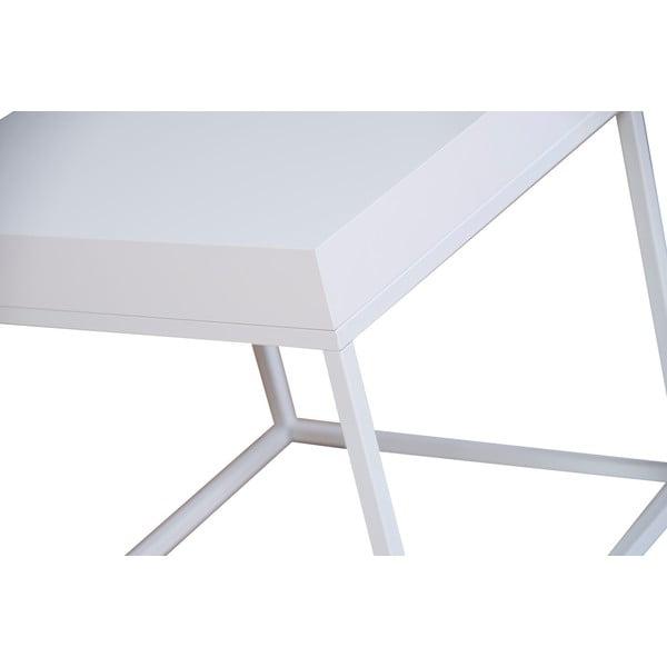 Biely odkladací stolík TemaHome Petra