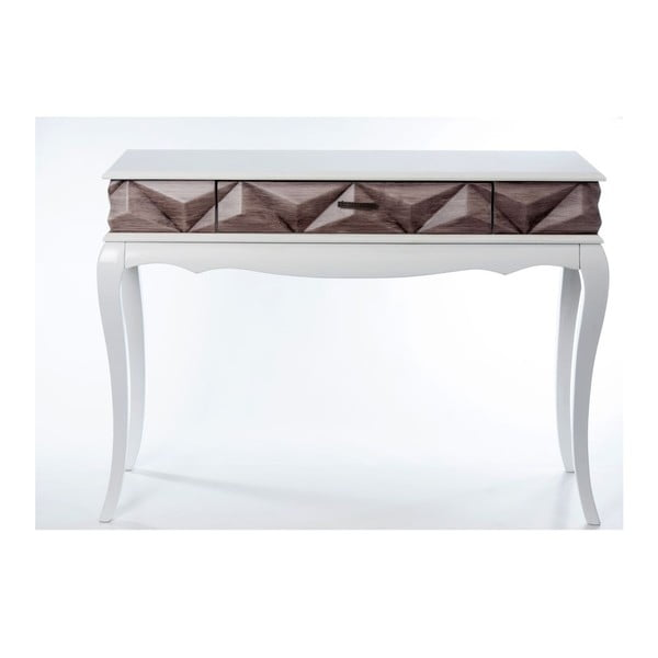 Konzolový stolík Pyramid Brown, 113x41x81 cm