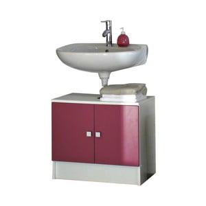 Ružová kúpeľňová skrinka pod umývadlo Symbiosis André