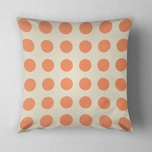 Vankúš Big Orange Dots, 43x43 cm