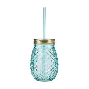 Modrý pohár so slamkou Miss Étoile Pineapple