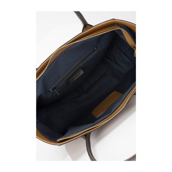 Kožená kabelka Giorgio Costa 15001 Cognac
