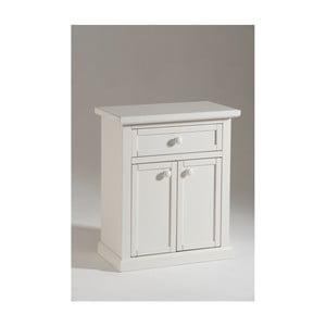 Biela drevená skrinka na topánky Castagnetti Cabinet