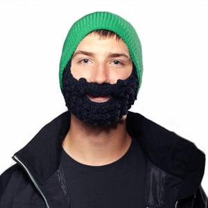 Zelená čiapka s čiernou bradou Beardo Attached