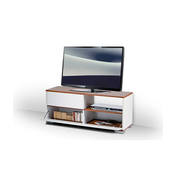 Televízny stolík Mega, biely/milas