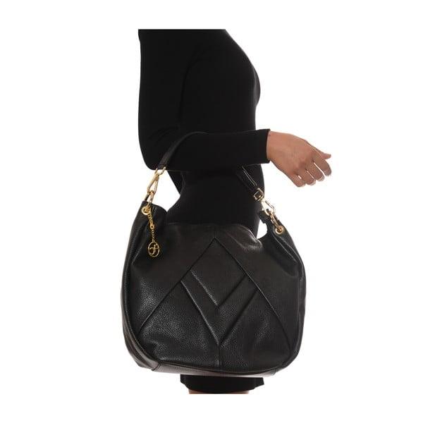 Kožená kabelka Fila, čierna