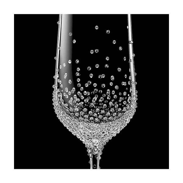Sada 2 pohárov na šampanské Gaia so Swarovski Elements v luxusnom balení