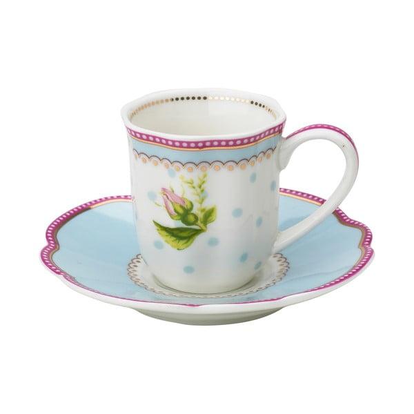 Porcelánová šálka na espresso s tanierikom Lovely od Lisbeth Dahl, 2 ks