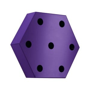 Stojan na víno Hexagon, fialový