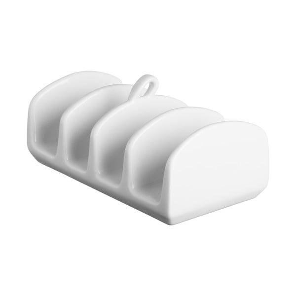 Biely stojanček na toasty z porcelánu Price&Kensington Simplicity