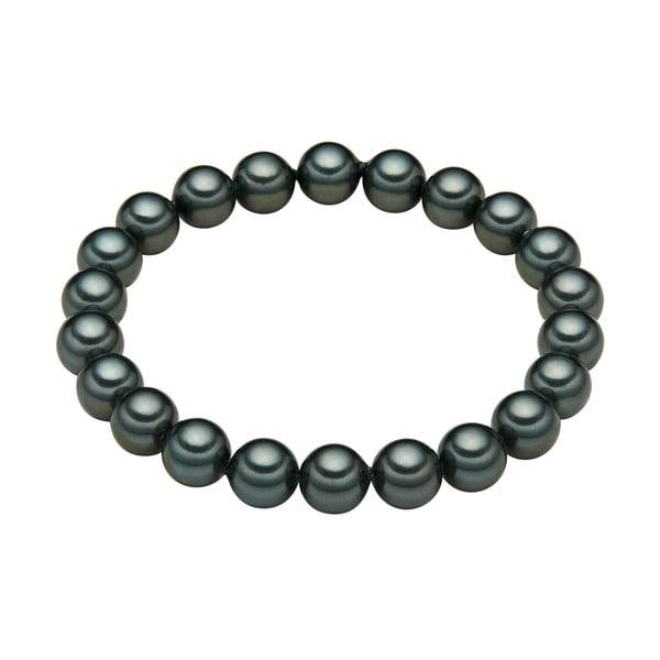 Perlový náramok Muschel, zelené perly 8 mm, dĺžka 21 cm