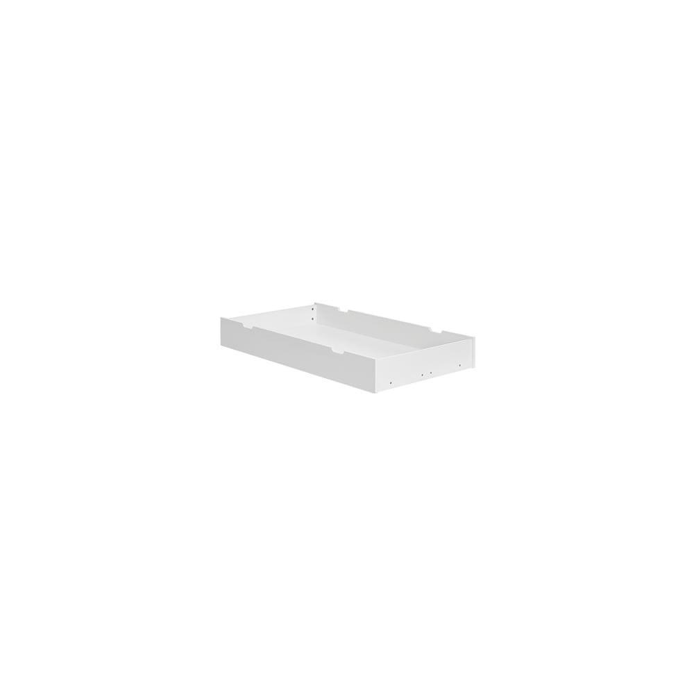 Biely úložný priestor pod detskú postieľku Pinio Calmo, 140 × 70 cm