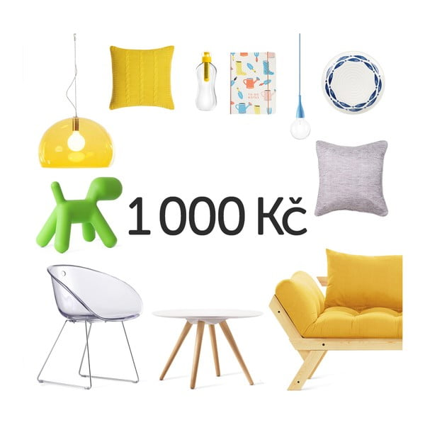 Elektronický darčekový poukaz na 1000 Kč