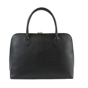 Čierna kožená kabelka Chicca Borse Lady