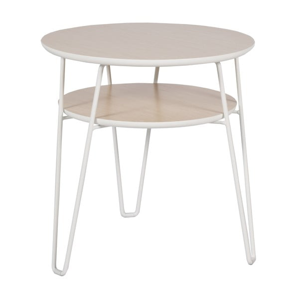 Konferenčný stolík s bielymi nohami RGE Leon, ⌀ 50 cm