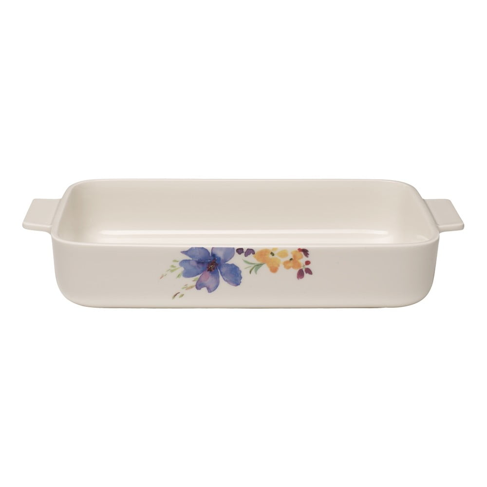 Biela porcelánová zapekacia misa Villeroy & Boch Mariefleur Basic, 30 x 20 cm
