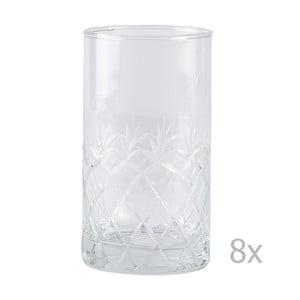 Sada 8 pohárov Villa Collection Glass, 250ml