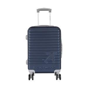 Tmavomodrá palubná batožina na kolieskách Travel World Aiport, 44 l