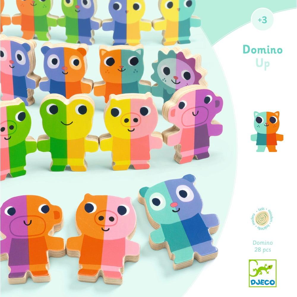 Detské drevené domino 3D Djeco