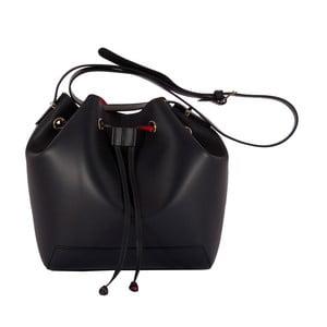 Čierna kabelka z pravej kože Andrea Cardone Jemma